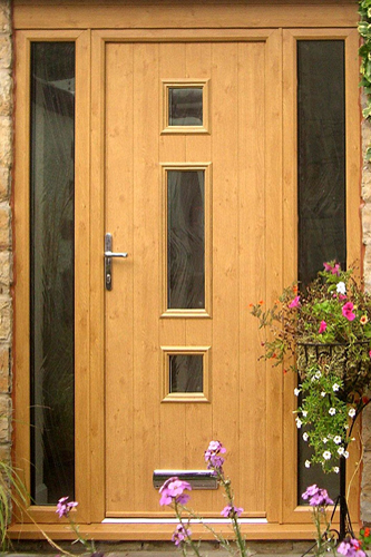 wood effect composite door