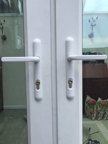 pvc security door handles